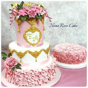Pink Engagment Cake  - Cake by Nana Rose Cake