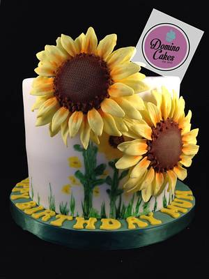 Sunny Sunflowers - Cake by Domino Cakes