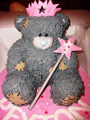 me 2 u teddy bear cake - Cake by frostingbakery