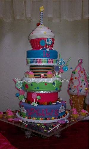 Candy quinceañera cake - Cake by Marie
