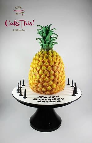 Pineapple Birthday Cake - Cake by Cake This
