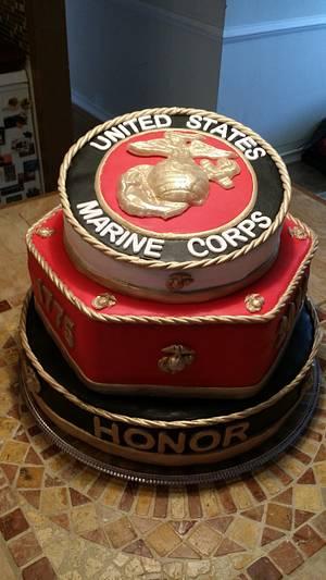 2014 Marine Corps Ball cake - Cake by Bella Noche Cakes