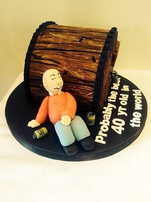 Beer barrel cake - Cake by Martina Kelly