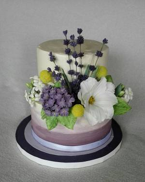White and lilac - Cake by Anka