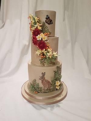 Woodland Adventure - Cake by Thesugarfloristyork