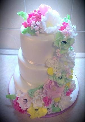 Wedding flower cake - Cake by cicapetra