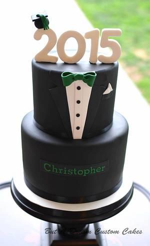Tuxedo Grad Cake - Cake by Elisabeth Palatiello