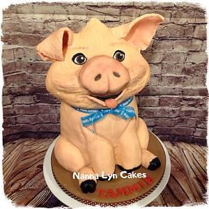 Piggy - Cake by Nanna Lyn Cakes