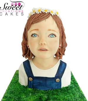 Little girl bust cake - Cake by Sweet Creations Cakes