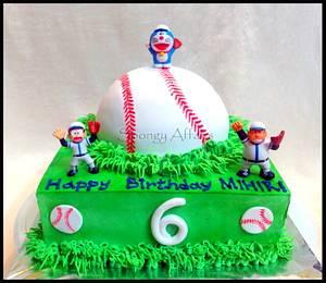 Play Baseball with Doraemon! - Cake by Meenakshi Jamadagni