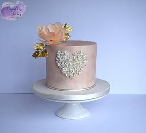 Engagement cake - Cake by Magda's Cakes (Magda Pietkiewicz)