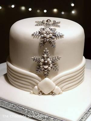 Art Deco Inspired Christmas Cake - Cake by Sarah Jones