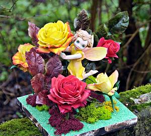 Rose fairy. Away with the Fairies for the Irish Sugarcraft Show 2016 - Cake by Anna