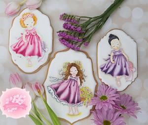 Girls of Spring Cookies 👧💐🌈 - Cake by Bobbie