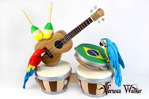 Brazilian Music - Cake by Verusca Walker