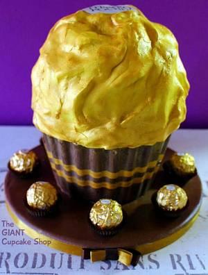 Giant Ferrero Rocher - Cake by Amelia Rose Cake Studio