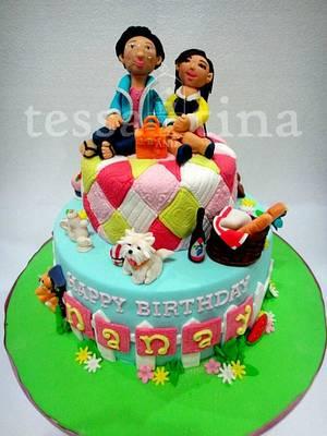 Picnic Quilt Cake - Cake by tessatinacakes