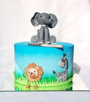 Happy jungle  - Cake by Tirki