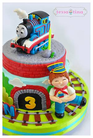 Thomas Cake - Cake by tessatinacakes