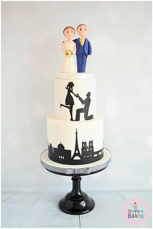 Amy & Jamie - Cake by Dollybird Bakes