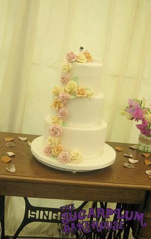 Simple 3 Tier Wedding Cake - Shabby Chic Wedding - Cake by Sam Harrison