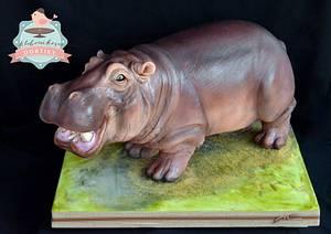 Hippo cake  - Cake by pavlo