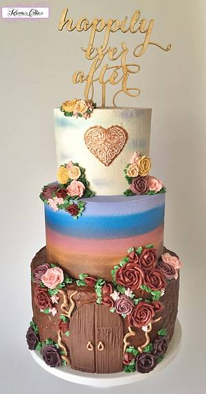 Happily Ever After - Cake by vivalabuttercream