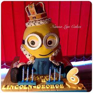 King Bob - minion - Cake by Nanna Lyn Cakes