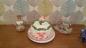 Jolly Snowman Christmas Cake  - Cake by Truly Scrumptious Cakes by Christine