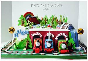 Thomas, Percy, James for Hugh - Cake by Bobie MT