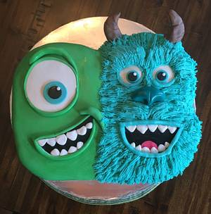 Mike and Sully! Monsters Inc. - Cake by Kim