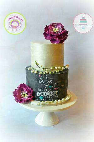 ...to the moon & back - Cake by Frosted Dreams
