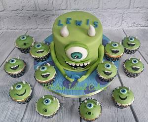 Mike Wazowski  - Cake by Kitchen Island Cakes