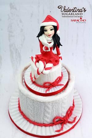 Winter Knit Cake - Cake by Valentina's Sugarland