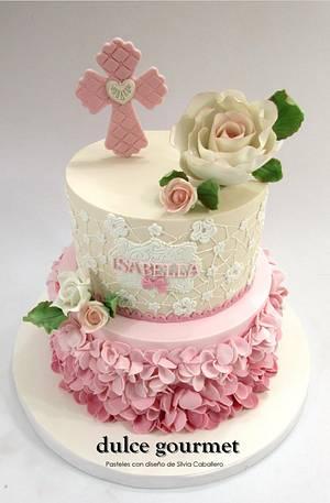 Communion cake for Isabella - Cake by Silvia Caballero