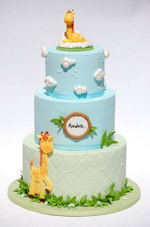 Mummy and Baby Giraffes - Cake by Lesley Wright