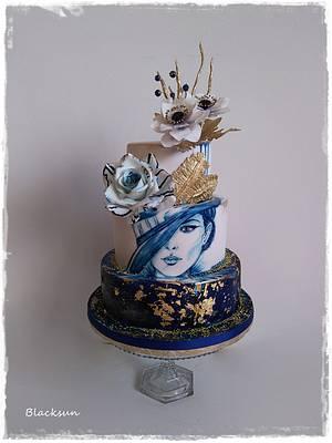 Lady in blue - Cake by Zuzana Kmecova