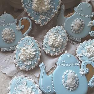 Teapots and Cameos  - Cake by Teri Pringle Wood