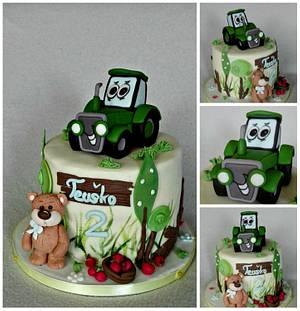 Tractor and teddy bear - Cake by Anka