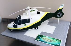 Great North Air Ambulance Cake  - Cake by Symphony in Sugar