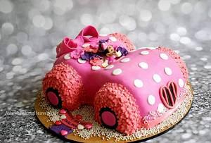 3D minnie mouse car cake - Cake by Ashel sandeep