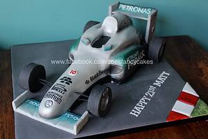Racing car formula one cake - Cake by Zoe's Fancy Cakes
