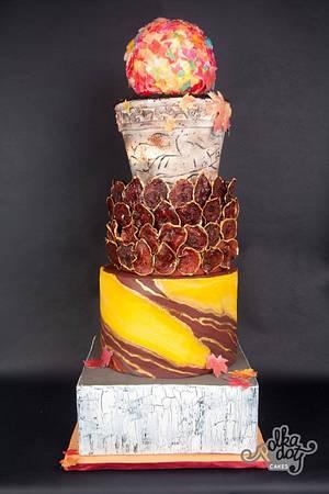 Fondant d'Automne - Cake by ragini