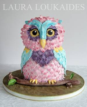 Orchid the Owl - Cake by Laura Loukaides