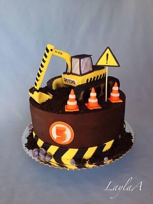 Excavator birthday cake  - Cake by Layla A