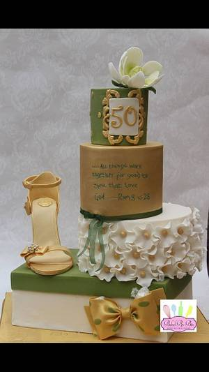 Golden shoe - Cake by Bim- Baked By Bim