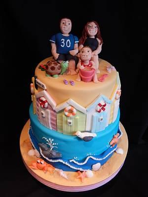 Ill Nightmare Beach Cake - Cake by Elizabeth Miles Cake Design