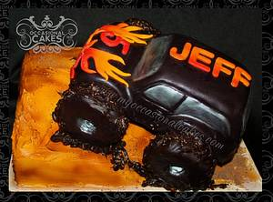 Monster Truck birthday cake - Cake by Occasional Cakes