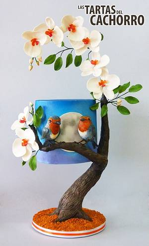 Birds in love (Collab Me, Myself and I) - Cake by Las tartas del Cachorro by Daniel Casero