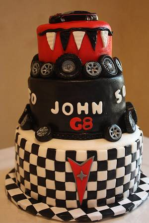 50th Birthday Car Cake - Cake by Pam and Nina's Crafty Cakes